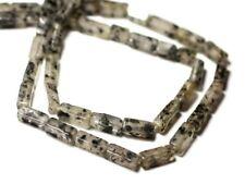 Fil 35cm 39pc env - Perles de Pierre - Quartz Chlorite Rectangles Cubes 6-10mm -