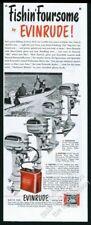 1950 Evinrude outboard boat motors Fastwin Fleetwin Sportwin Sportsman print ad