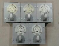 Hubbell SY3-277-L Porta Hook Enclosure HBL2336 20A 277VAC Receptacle Each #028A9