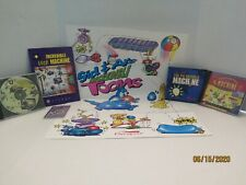 Sierra The Incredible Machine Lot of 3 Pc Cd Roms & Toons Trading Cards & Poster