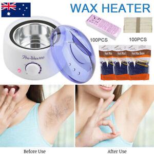 Pro Wax Pot Warmer Hard Wax Bean Body Remover Heater Waxing Machine Kit AU Plug