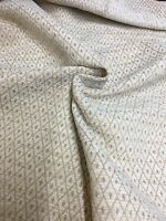 LUXURIOUS CREAM CHENILLE UPHOLSTERY FABRIC 1.8 METRES