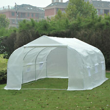 Outsunny 12′x10′x7′ Walk In Greenhouse Outdoor Plant Green House Gardening Large