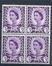 Wales 1967 Sc# 1 Queen Elizabeth dragon 3p Great Britain Gb block 4 Mnh