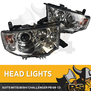 Mitsubishi Challenger PB 09-13 Head Lights Pair Left and Right Projector Light