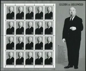 US SCOTT 3226 PANE OF 20 ALFRED HITCHCOCK 32 CENTS FACE MNH