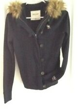 Abercrombie Kids Girls Blue Jacket with Faux Tan Fur Hood Size Xl