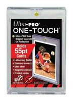 (1) ULTRA PRO UV CLEAR ONE-TOUCH MAGNETIC 55 PT CARD HOLDER **FREE SHIPPING!**