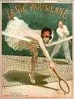 1926 La Vie Parisienne Tennis French France Travel Advertisement Poster Print