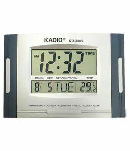 Kadio Big LCD Display Digital Wall or Table Clock with Temperature