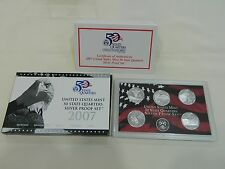 United States Mint 50 states quaters silver proof set 2007