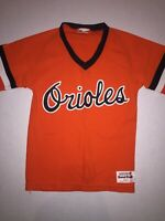 1970's Baltimore Orioles MLB Vintage Sand-Knit Jersey Youth Size S Throwback
