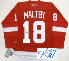 KIRK MALTBY SIGNED DETROIT RED WINGS 08 CUP JERSEY RBK