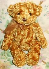 """GUND 10"""" PLUSH SHINNY MIXED LIGHT GOLDEN RED BROWN FUR BEAR GLOSSY EXCELLENT"""