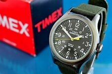 VINTAGE TIMEX MILITARY STYLE BLACK FACED 24 HOUR 40mm INDIGLO WATCH