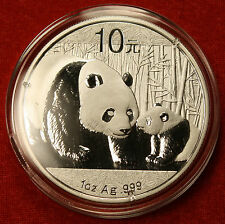 2011 CHINESE PANDA DESIGN 1 OZ .999% SILVER ROUND BULLION COLLECTOR COIN GIFT