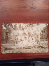 Vintage Real Photo Sports Team Post Card Soccer or other ball image Postcard