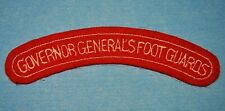 'Governor General's Foot Guards' Canadian Patch - WWII Era Occupation