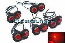 "10x Red 3/4"" Marker Lights Triple Diode LED Truck Trailer Clearance Indicator HK"