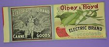 Original c1890s Olney & Floyd Electric Brand Succotash Can Label