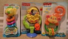 FISHER PRICE RATTLE & TEETHER N SUCTION SPINNER BABY TOYS DEVELOPMENTAL *NEW*