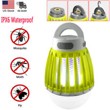 Electric Bug Zapper Lamp Mosquito Killer Insect Fly Light Bulb USB Rechargeable