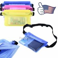 Unisex Waterproof Underwater Swim Waist Pouch Keys Wallet Phone Dry Bag Pack NEW
