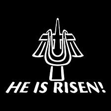 He Is Risen Religious Christian God Car Truck Window Laptop Vinyl Decal Sticker.