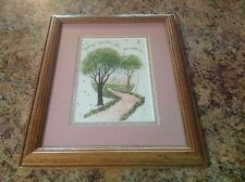 D. Morgan Framed Matted Print 'Nothing Succeeds Like Persistence' 1992