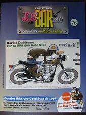 FASCICULE SERIE 2  JOE BAR TEAM 76 BSA 500 GOLD STAR 1956 / MAC MOTORCYCLES