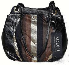 NWT NEW BODHI Black Brown Hobo Handbag Purse