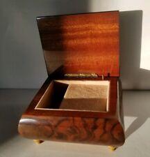 Ercolano Italy Art In Wood Music Jewelry Box flowers