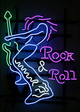 "New Rock Roll Guitar Bar Neon Sign 24""x20"" Ship From USA"