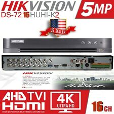 Hikvision DS-7216HUHI-K2 H.265+ 16CH DVR 5MP HD-TVI,+2CH IP 6MP( NO HARD DRIVE)