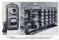 Telephonapparat Selbstverbindungsanlage MechanischeTelephon... Bilddokument 1908