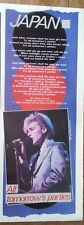 JAPAN All Tomorrow's Parties' lyrics magazine PHOTO/Poster/clipping 11x4 inches