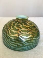 Tiffany Studios Green Damascene Shade Only- Damaged and Repaired