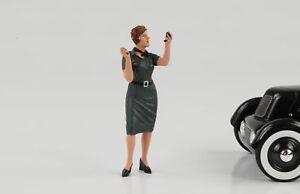 50s 50er Style Woman Girl Figurine Ulrike 1:18 American Diorama IV No Car