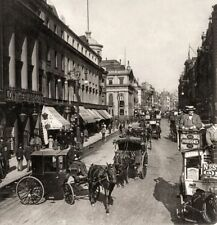 Vintage Strand London Horse & Carriage Black & White 10x8 Print Photo Picture