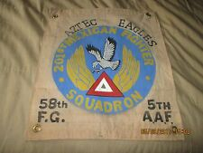 WWII USAAF 201 ST MEXICAN FIGHTER SQUADRON 58 FG 5 TH AAF AZTEC EAGLES  FLAG