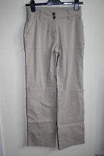 Blue Motion Denim Women's Fashion Designer Straight Casual Trousers Beige Size36