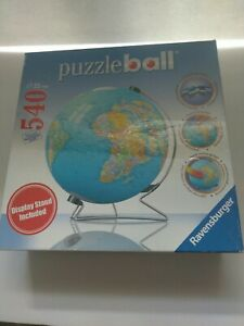 2007 Ravensburger 3D Puzzle Ball World Globe With Display Stand