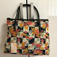 Japanese Taste Pattern Print Cotton Bag with Two Handles Kyoto Japan C