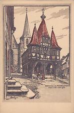 AK-Rathaus in Michelstadt-Künstler-AK
