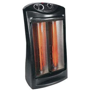 Comfort Zone CZQTV007 1500W Electric Quartz Infrared Radiant Tower Heater, Black