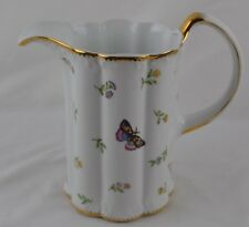 Godinger Primavera Butterfiled Insects Water Pitcher Gold Trim