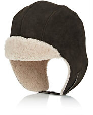 CrownCap Sheepskin Bomber Aviator Hat Cap Leather NEW Brown Unisex OSFM $145