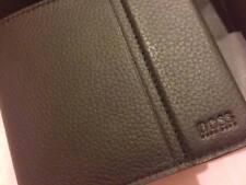 Hugo Boss Men's Leather Wallet Traveller 4 CC Coin Bifold DESIGNER 50311783