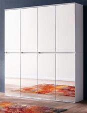 Flur Garderobe Schuhschrank Mehrzweck Schrank weiß Spiegel Diele 150 cm Mirror