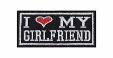 I Love My Girlfriend écusson Heavy Biker Rocker patch moto blouson badge image